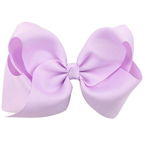 Covermason Pince à cheveux noeud pour enfants papillon (violet clair)