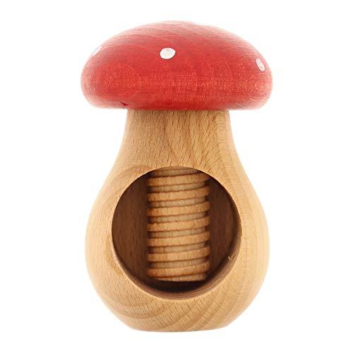 HOFMEISTER® Nussknacker Fliegen-Pilz, Buchen-Holz, Handarbeit aus Europa, knackt einfach Jede Nuss, ideal für Kinder, 10 x 6,5 x 6,5 cm