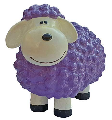 Lustige Tierdeko Schaf bunt versch. Farben auswählbar Garten Deko Tierfigur, Farbe:lila