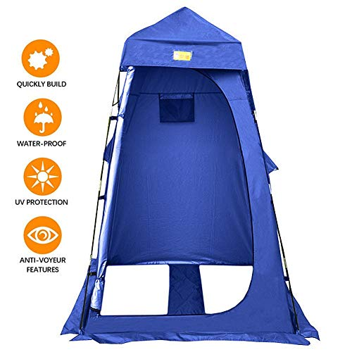 oshidede Outdoor Privacy Tent With Roof For Changing Dressing/Shower/Toilet - Portable Rain And Sun Protection Changing Room - Mobile Shower Tent - Easy Installation, 120x120x220cm