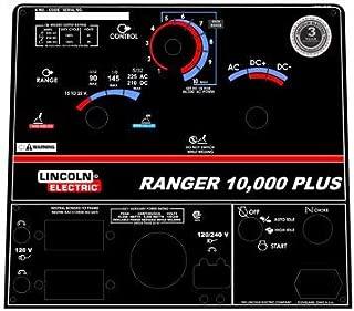 Lincoln Arc Welder Control Plate Ranger 8 Black Face Plate, L-10183-7