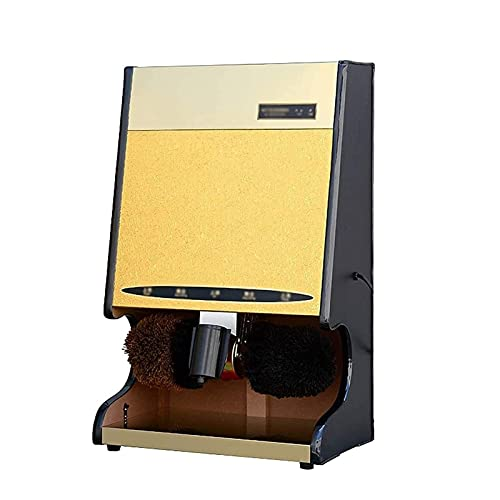 ZLQBHJ Schuhputzmaschine, Schuhbürstenmaschine Haushalt Electric Shoe Polierer Hotel Automatische Induktion Schuh Poliermaschine (Color : Gold)