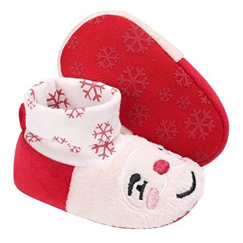 Amosfun 1 Paar Säugling Baby Jungen Mädchen Hausschuhe Gemütliche Fleece Stiefeletten Weichen Boden Warme Wintersocken Neugeborene Krippe Schuhe L