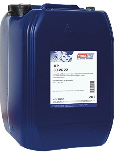 EUROLUB HLP ISO-VG 22 Hydrauliköl, 20 Liter