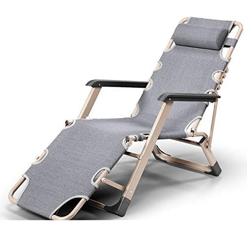 Xiao Jian- Chaise Pliante-Bureau Chaise Pliante Pause-déjeuner Inclinable Chaise Pliante Siesta Chaise Home Inclinable Simple Lit Sofa Chaise Simple Chaises de Jardin (Color : A)