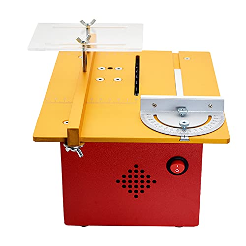 MXBAOHENG Mini Electric Table Saw 96W Multifunctional Precision Woodwork Push Table Saw DIY Handicrafts Micro Cutting Machine with Alloy Saw Blade