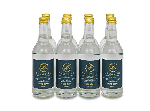 Gallybird 8 x 500 ml Naturally Sugar & Calorie Free Premium Indian Tonic - Classic Blend