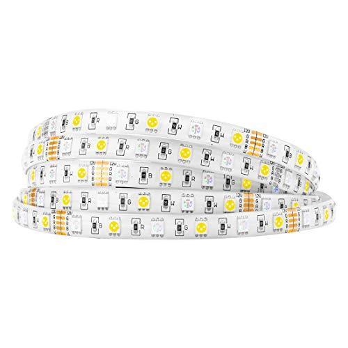 BTF-LIGHTING 5050 RGBW RGB+Warmweiß (2700K-3000K) 150RGB+150Weiße LED 5m 16,4ft 60LEDs/m Mehrfarbige LED-Bandleuchten IP65 Silikonbeschichtung Wasserdichte PCB DC12V