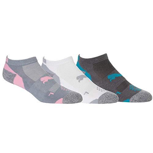 Puma Golf 2020 Pounce Low Cut Lot de 3 paires de chaussettes pour femme Multicolore 5-10
