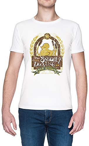 The Snuggly Duckling Blanca Hombre Camiseta Tamaño XXL White Men's tee Size XXL