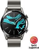 Huawei Watch GT 2 Elegant - Smartwatch con Caja de 46 mm (Hasta 2 Semanas de Batería, Pantalla Táctil AMOLED de 1.39', GPS, 15 Modos Deportivos, Llamadas Bluetooth), Gris