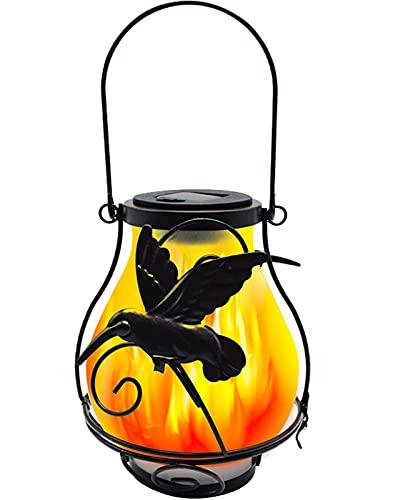 ZHMIAO Farol solar con llamas para colgar, luz LED exterior, resistente al agua, iluminación de paisaje, iluminación de jardín