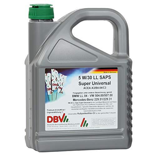 5 Liter DBV Motorenöl 5W-30 LL SAPS Super Universal