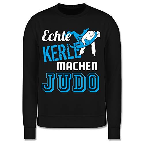 Sport Kind - Echte Kerle Machen Judo - 104 (3/4 Jahre) - Schwarz - Judo Pullover Kinder - JH030K - Kinder Pullover