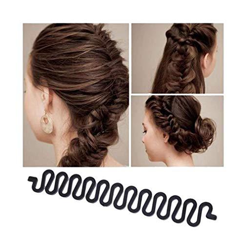 Hengsong 2pcs Outil de Twist Cheveux Tressage Rapide Tresse Fishbone Coiffure Magique Rouleau DIY Magic Hair Styling Bun Maker (2pcs)