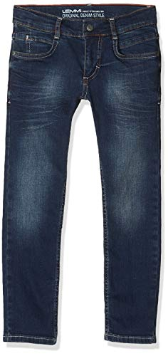 Lemmi Jungen Hose Boys Tight fit MID Jeans, Blau (Dark Blue Denim|Blue 0012), (Herstellergröße: 128)
