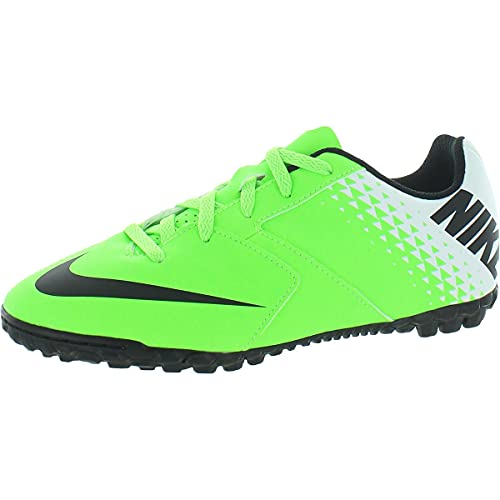 Nike Boys Bomba Turf Faux Leather Soccer Shoes Green 3...