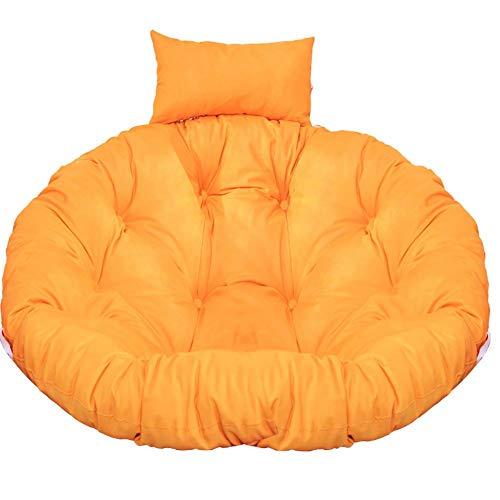 MSTOLL Thick Round Swing Cushion Hanging Egg Chair Pads Soft Papasan Chair Cushion-D105cm(41inch) Yellow