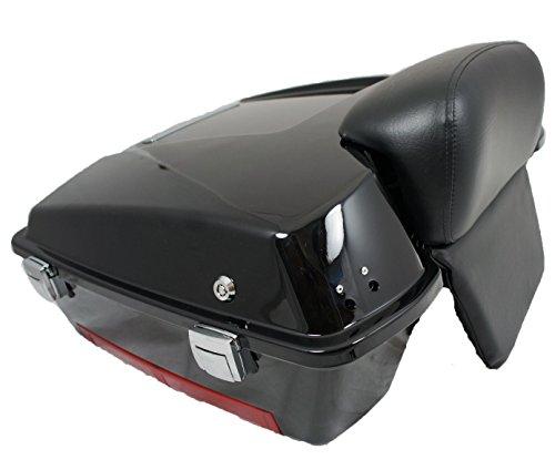 Read About Mutazu Vivid Black Chopped Tour Pak with Chopped Backrest (TP-005)