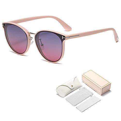Qianghua Gafas de Sol polarizadas Mujer Diseñador Retro clásico Gafas de Sol cuadradas de Moda Gafas UV400,B