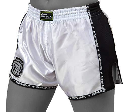 Kenneth J Lane SAK2-43, Pantaloncino Kickboxing Unisex Adulto, Bianco, S