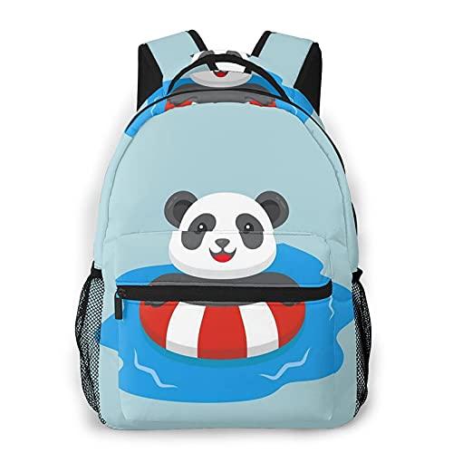 Zhouwe Zaini panda nuoto per la scuola di libri, borsa da viaggio leggera zaino sportivo