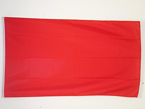 AZ FLAG Flagge EINFARBIG ROT 90x60cm - EINFARBIG Fahne 60 x 90 cm - flaggen Top Qualität