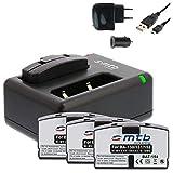 4X Batería 80mAh + Cargador Doble (USB/Coche/Corriente) BA150 BA151 BA152 para Sennheiser Set. / RI. / RS. / HDI. / HDR. // AKG.- Ver Lista!