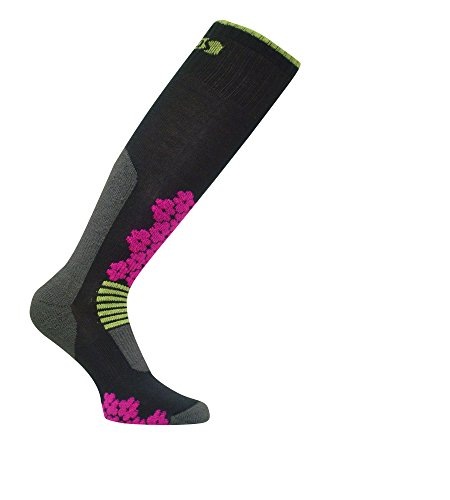 Eurosocks Women's Snowride Sock, Anthracite, Medium