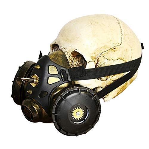 WAVENI Steampunk Gasmaske Retro Gummi Steampunk Maske für Party und Cosplay