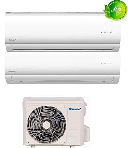 Climatizzatore Dual Split, Inverter, 9000 + 12000 Btu, Deumidificatore Gas R32 - SIRIUS-9E + SIRIUS-12E