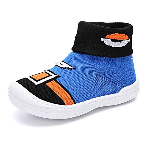 Bebé Niños Niñas Niños Zapatos Anti Deslizante Zapatillas Primera Infancia Calcetines de los Caminantes Adentro del Piso Primeros Pasos Zapatillas(EU 21)