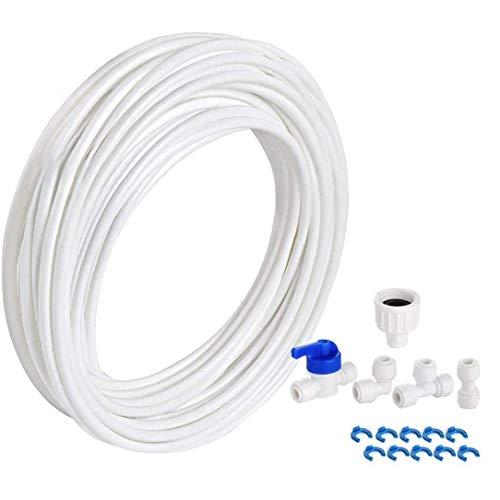 Heall Wasserrohrverbinder-Wasseraufbereitungsrohrverbinder Wasserfilter Kit für Kühlschrank Schlauch Kühlschrank 10M Bewässerungsbedarf