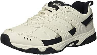 AviaAvi-VergeMen'sSneakers - Workout, Walking, Athletic,Cross Training,Tennis,Weightlifting, GymShoes for Men, White/True Navy, 8 X-Wide