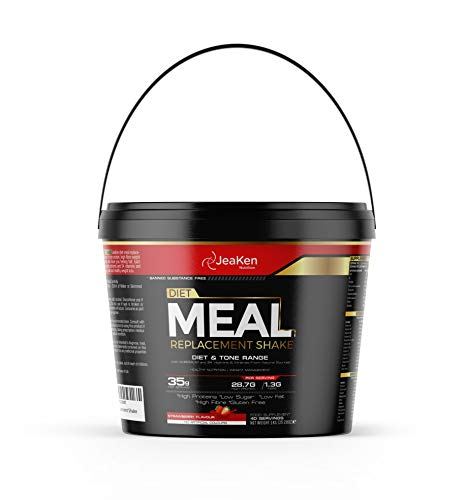 JeaKen - Meal Replacement Shake - Diet Meal Replacement for Weight Loss - Nutrient Dense Complete Meal - Strawberry Protein Powder Weight Loss Shake for Women and Men - 40 Servings(35g Per Serving)