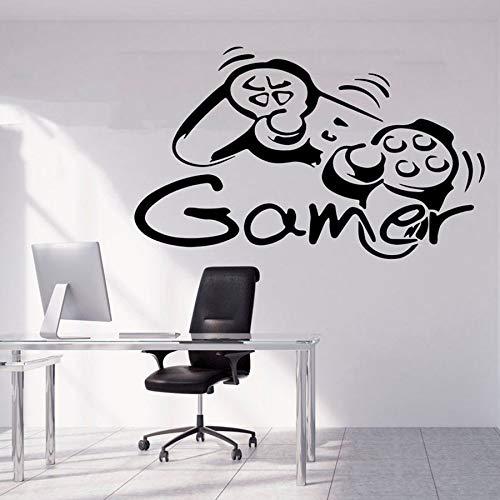 Tianpengyuanshuai Fototapete Game Controller Kinderzimmer Dekoration personalisierte Vinyl Wandaufkleber kreative Wandbild 57x34cm