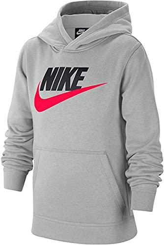 Nike Felpa da Ragazzo con Cappuccio Club Fleece Grigia Taglia XL cod CJ7861-077