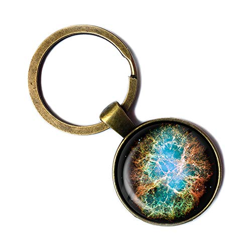 NASA Photograph Galaxy Magic Galaxis Foto Keychain Bronze Schlüsselanhänger