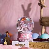 Escultura Figuras Estatuas Decoracion Nueva y Creativa Bola de Cristal Starry Sky Series Snowflake Lantern Water Polo Girl Heart Room Decora