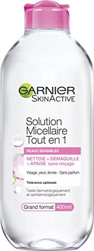 Garnier - SkinActive - Solution Micellaire Tout en Un - Tous Types de Peaux Même Sensibles - Grand Format - 400 ml