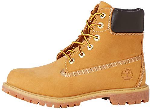 Timberland Damen 6 Zoll Premium wasserdicht Stiefel, Gelb (Wheat Nubuck), 37.5 EU