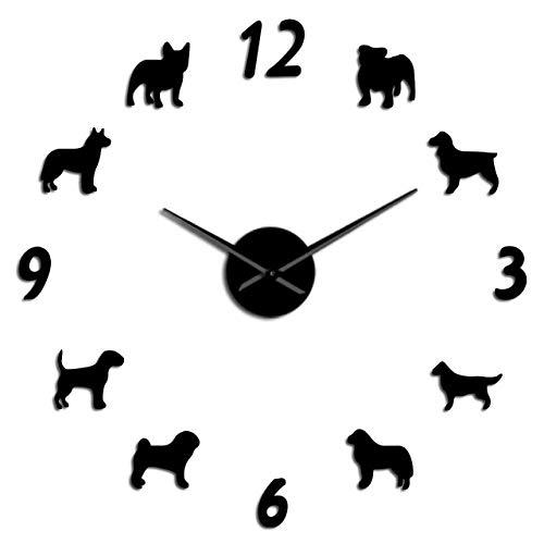 FENGSZ Wandklok Huisdier Hond Patroon Grote Wandklok