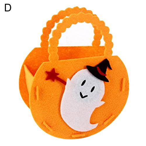 Steellwingsf tragbare Halloween Kürbis Form Candy Bag Lagerung Eimer Trick oder behandeln Dekor - Geist *