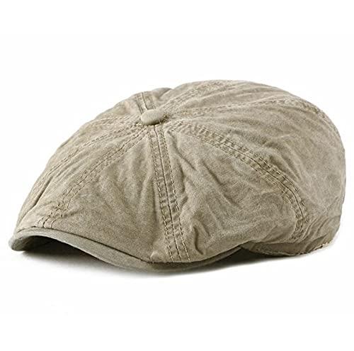 Shihuawu Sombrero de Boina Retro para Hombre, Sombrero Octogonal de Espiga de otoño, Sombrero de Calabaza Informal de Moda para Mujer, gatsby-003-G0771