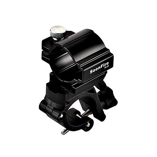 Soonfire N8 Clip para bicicleta ligero bicicleta LED linterna luz delantera soporte soporte Clip,Soporte de la lámpara delantera de bicicleta