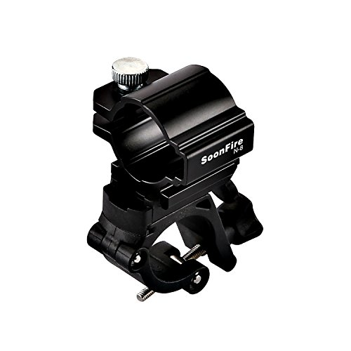 Soonfire N8 Clip para bicicleta ligero bicicleta LED linterna luz delantera soporte...