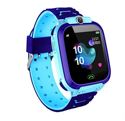 linyingdian Smartwatch Niños, Reloj Inteligente Niños con 1.44 Pantalla táctil Completa, LBS localizador Linterna, Llamada, SOS, Cámara, Juegos y Despertador, Regalo para Niño Niña de 3-12 años (Azul)