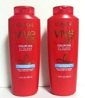Vive Pro Color Vive Hi-gloss Shampoo 13 Oz. For Women, 2 Pack