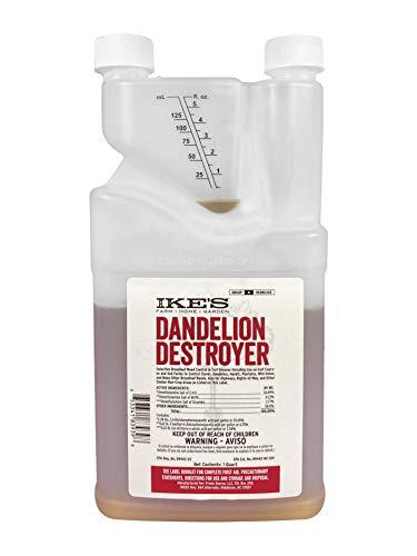 Ike's Dandelion Destroyer | Lawn Weed Killer | Kills Weeds Not Grass | Three-Way Herbicide (32 oz (Quart))