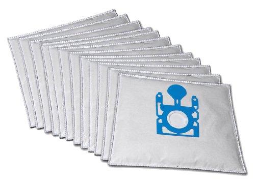 10 Premium Staubsaugerbeutel kompatibel für Siemens Rapid 2200W VS04G mit Plastikverschluss inkl. 2 Motorschutzfiltern